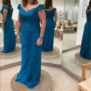 NWT teal gown